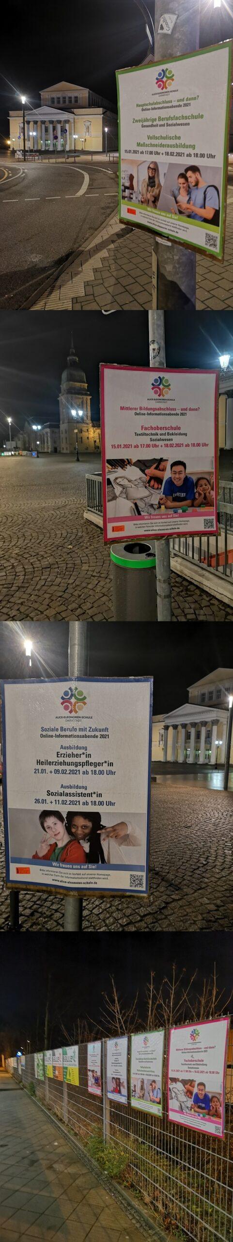 Plakatwerbung - Alice-Eleonoren-Schule Darmstadt