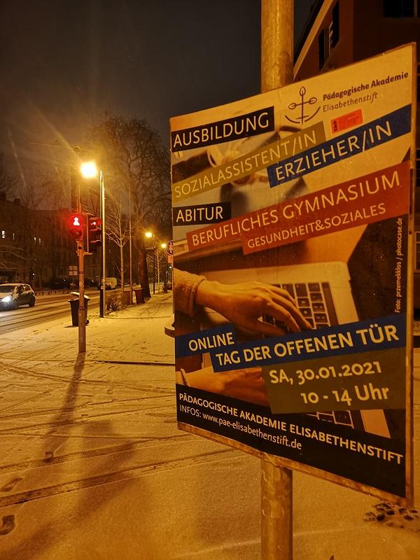 Plakatwerbung Paedagogische Akademie Elisabethenstift