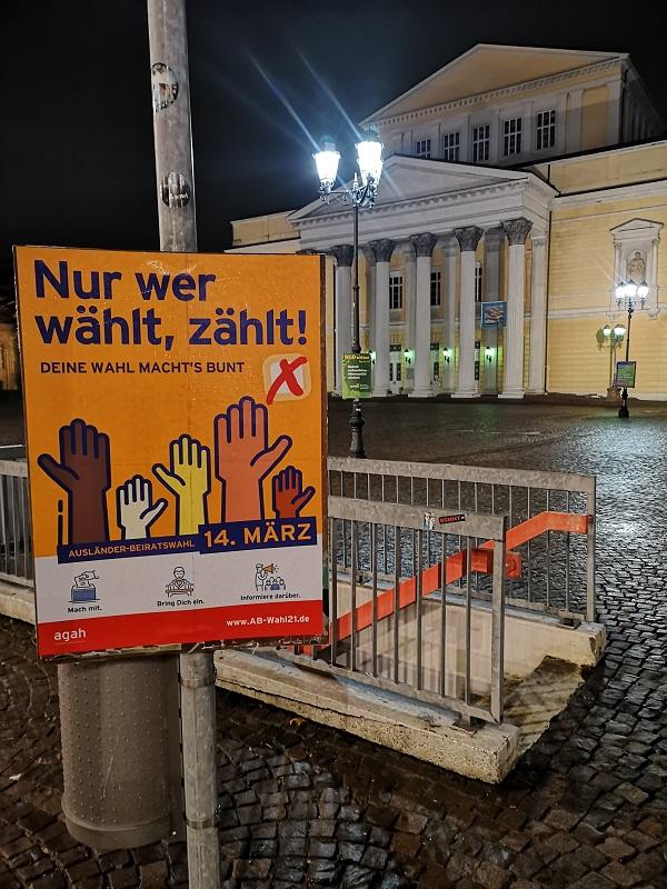 Plakatwerbung - AGAH - Ausländer-Beiratswahl Hessen