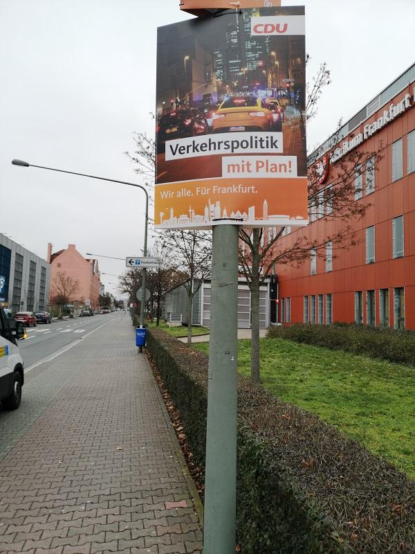 Plakatwerbung - CDU - Frankfurt am Main - Kommunalwahl 2021