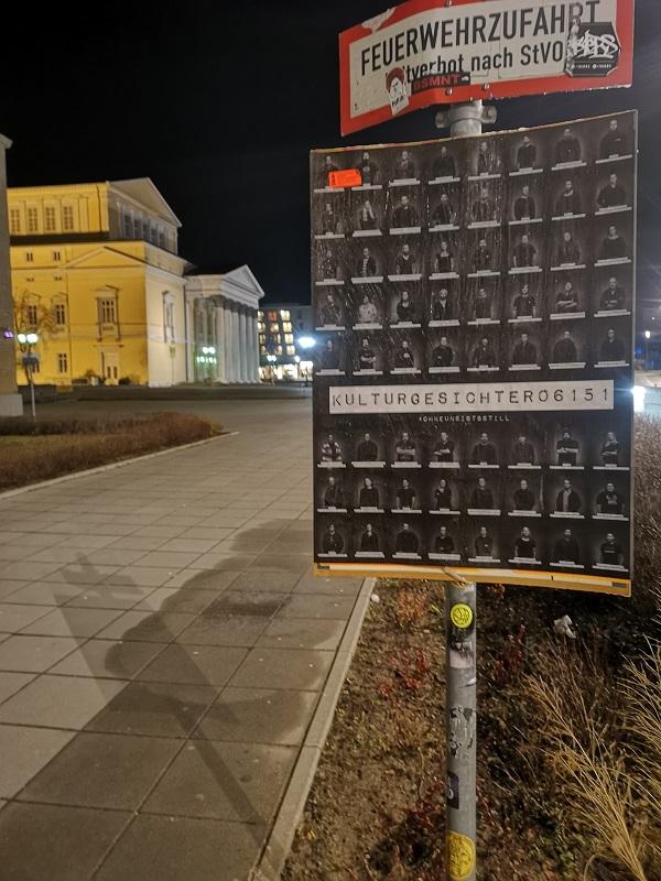 Plakatwerbung - Centralstation Darmstadt - Kulturgesichter 06151