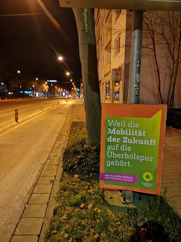 Plakatwerbung - Die Grünen - Darmstadt