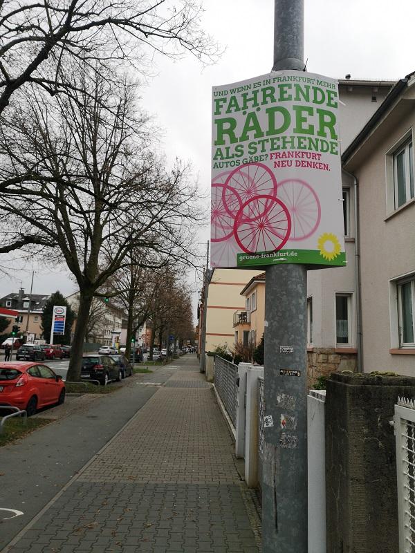 Plakatwerbung - Die Grünen - Frankfurt am Main - Kommunalwahl 2021