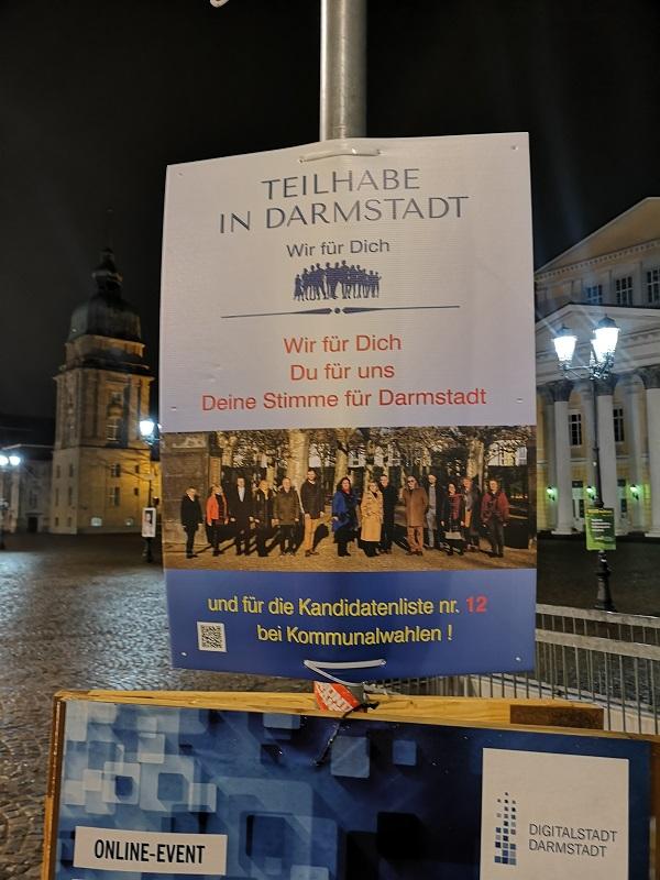Plakatwerbung - Teilhabe in Darmstadt - Kommunalwahl 2021