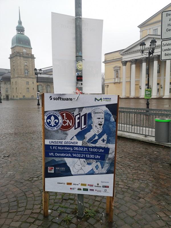 Plakatwerbung - SV Darmstadt 98