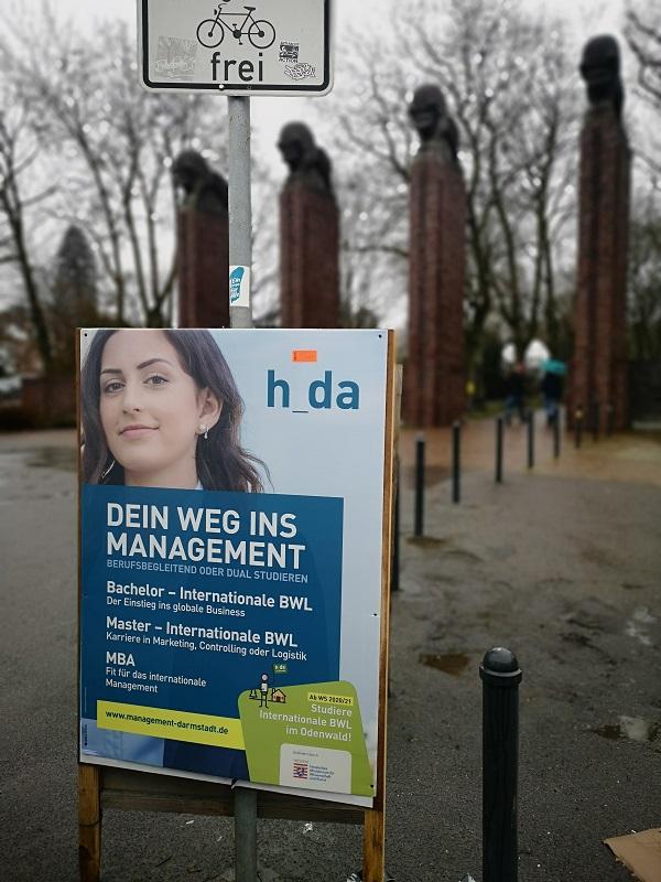 Plakatwerbung - h_da - Hochschule Darmstadt
