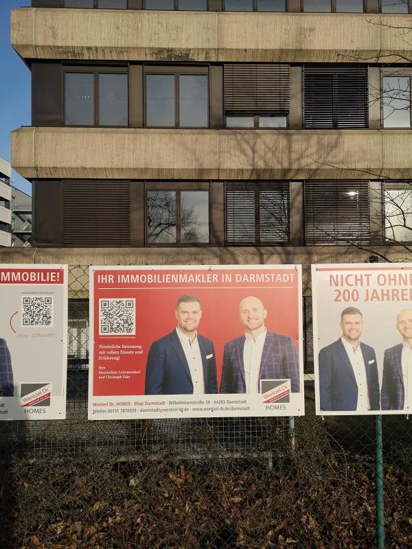 Plakatwerbung - Immobilienmakler Wentzel - Darmstadt
