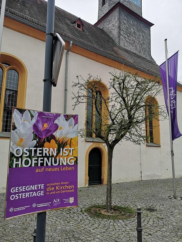 Plakatwerbung - Kirchen in Darmstadt - Ostern 2021