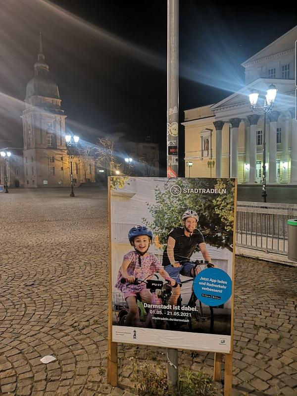 Plakatwerbung - Stadt Darmstadt - Stadtradeln