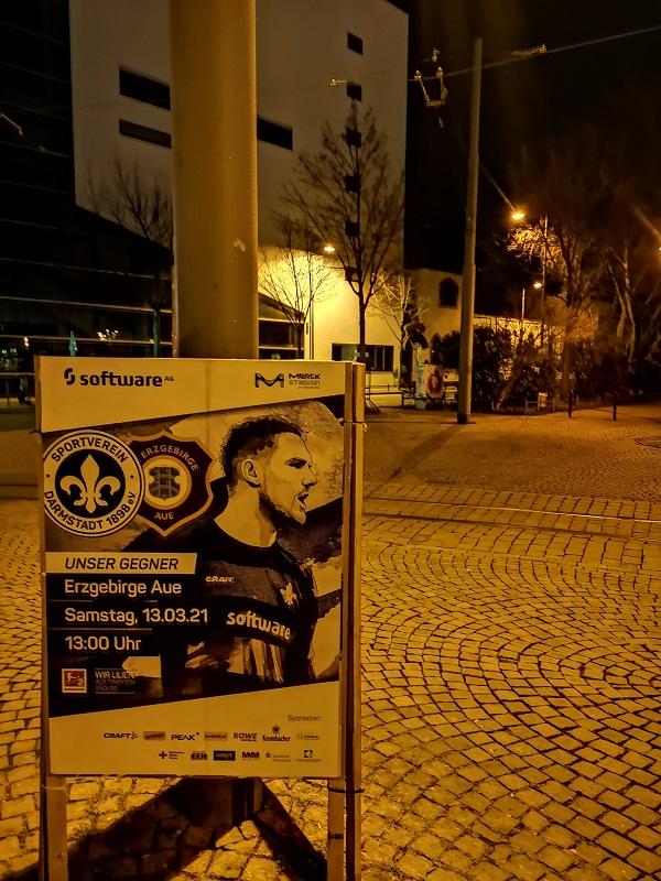 Plakatwerbung - SV Darmstadt 98 - Erzgebirge Aue