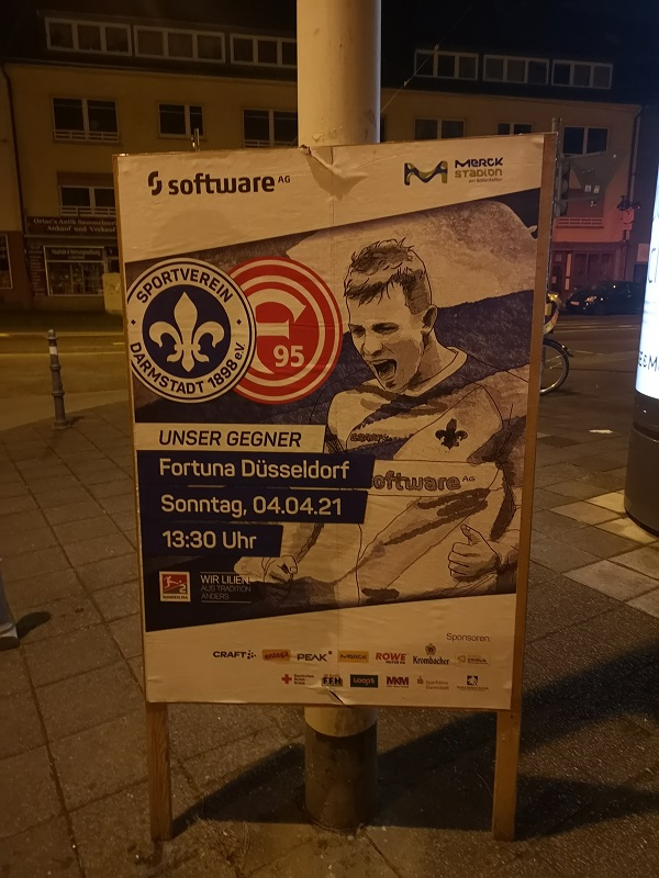 Plakatwerbung - SV Darmstadt 98 - Fortuna Düsseldorf