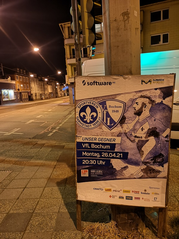 Plakatwerbung - SV Darmstadt 98 - VfL Bochum
