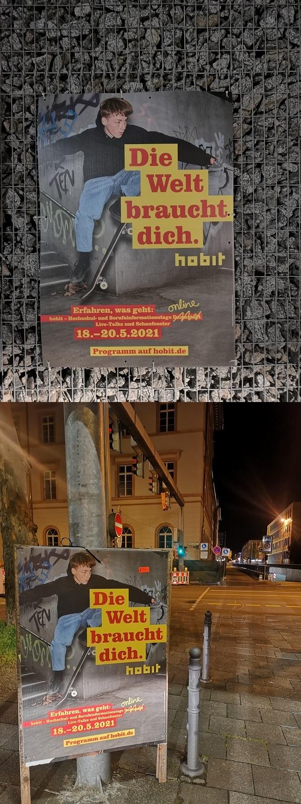 Plakatwerbung - hobit Darmstadt