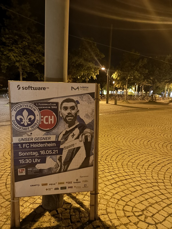 Plakatwerbung - SV Darmstadt 98 - 1.FC Heidenheim