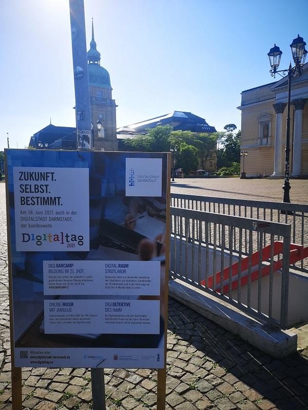 Plakatwerbung - Digitalstadt Darmstadt - Digitaltag 2021