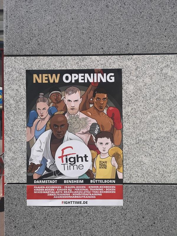 Plakatwerbung - FightTime Kampfsportzentrum